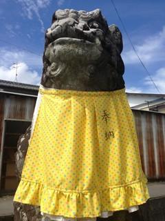 オサレ狛犬.JPG